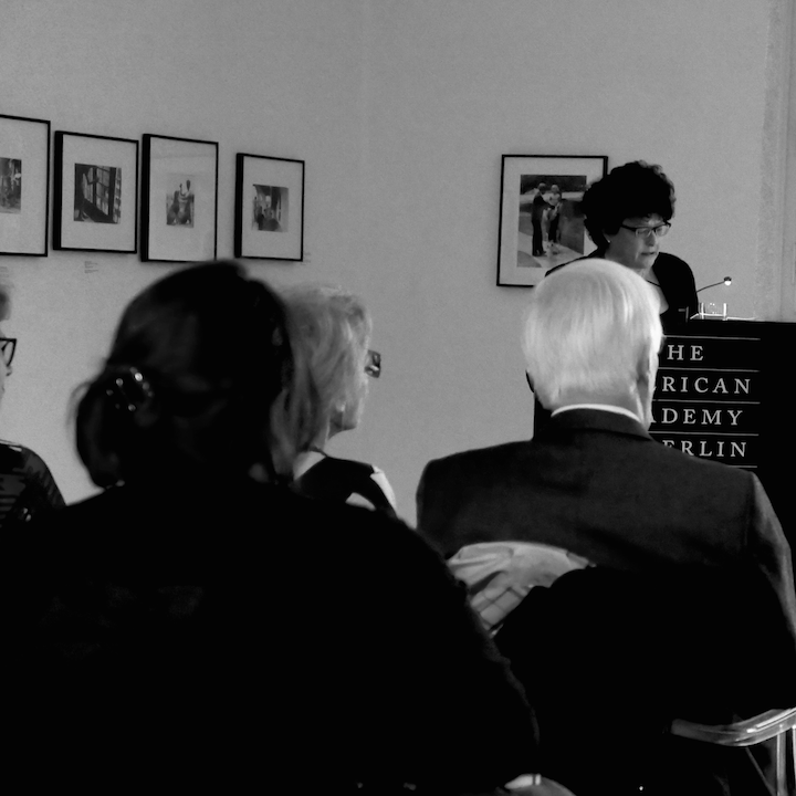 Professor König Introducing Mary Ellen Carroll